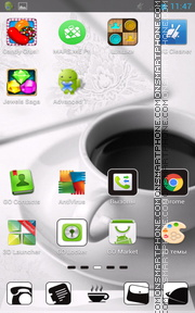 Coffee White tema screenshot