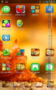 Autumn Leaves 06 tema screenshot