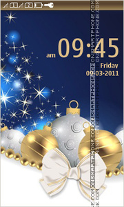 Christmas Decorations Balls Gold and Blue es el tema de pantalla