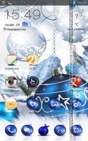 Christmas Balls 06 theme screenshot