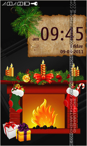 Holiday Fireplace tema screenshot