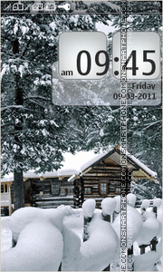 House in snow tema screenshot