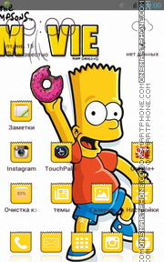 Bart Simpson 11 theme screenshot