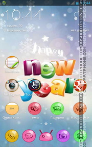 Happy New Year 2015 tema screenshot
