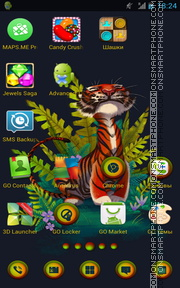 Tiger 62 tema screenshot