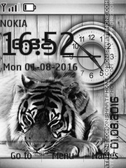 Black and white tiger tema screenshot