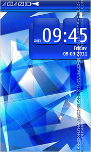 Blue abstraction 03 theme screenshot