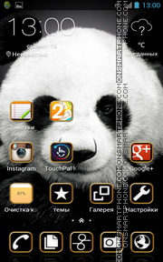 Panda 16 theme screenshot
