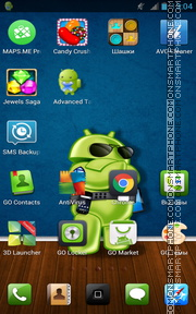 Android Style tema screenshot