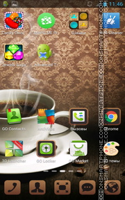Coffee Dark tema screenshot