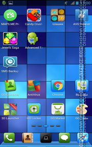 Blue Pixels tema screenshot