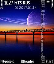 Night Collage es el tema de pantalla