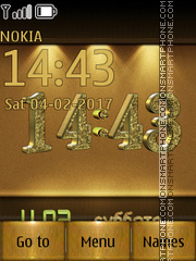 Gold Clock tema screenshot