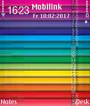 Rainbow Strips tema screenshot