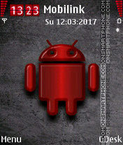Red Android tema screenshot