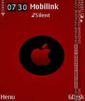 Red apple es el tema de pantalla