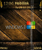 Capture d'écran Windows 8 Golden thème