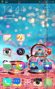 Crystal Glass tema screenshot