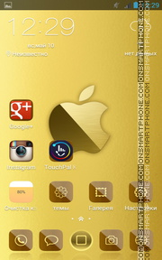 iPhone 7 Gold tema screenshot