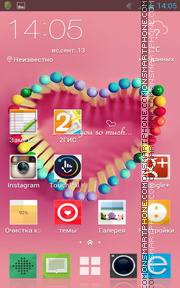 Matches Heart tema screenshot