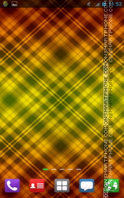 Colorful Golden Pattern es el tema de pantalla