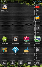 Скриншот темы Black Forest Theme Go Launcher