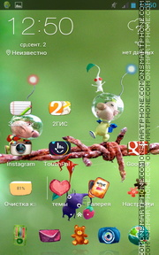 Cute Cartoon Theme-Screenshot