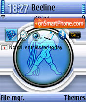 Aquarius QVGA theme screenshot