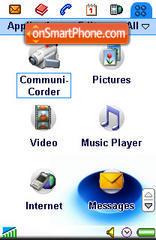 Blue Disc es el tema de pantalla