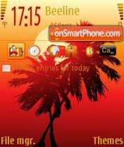 Скриншот темы Palm
