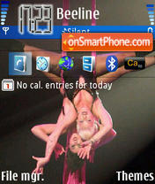Hot Pink theme screenshot