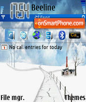 Winter Symbian theme screenshot