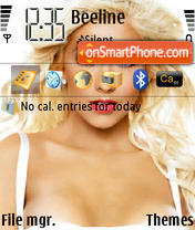 Christina Aguilera 09 theme screenshot