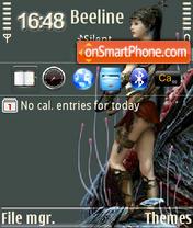 Скриншот темы Divine Protection QVGA