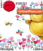 Bear Love theme screenshot