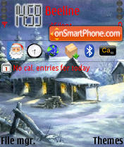 Winter Nights theme screenshot