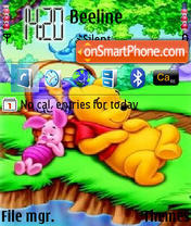 Sleeping Pooh theme screenshot