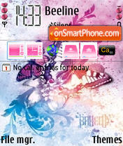 Pink Butterfly Theme-Screenshot