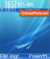 Vista iPhone es el tema de pantalla