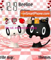 Cats Love theme screenshot