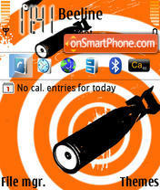 Orange Hypnoz theme screenshot