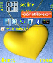 Yellow Heart theme screenshot