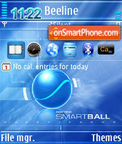 Smartball QVGA theme screenshot