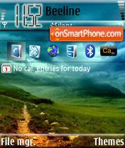 Capture d'écran Green Sky thème