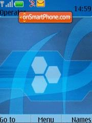 Abstract Blue theme screenshot