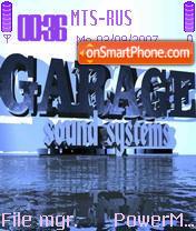 Скриншот темы Garage Sound Systems