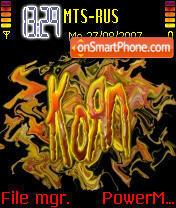 Korn 01 es el tema de pantalla