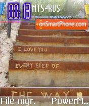 Love all the way es el tema de pantalla