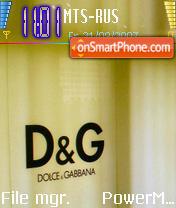 Dolche n Gabanna tema screenshot