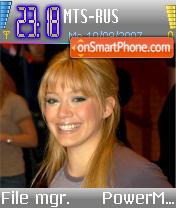 Hilary Duff v4 es el tema de pantalla